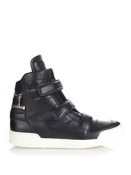 Balmain Leather High Top Trainers