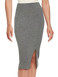 Cashmere Saks Fifth Avenue Pull On Skirt Night Mist