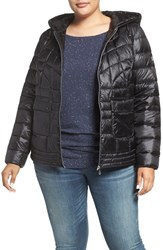 Bernardo Plus Size Women's Packable Hooded Down And Primaloft Fill Jacket