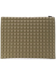 No Ka' Oi Textured Clutch Bag Green