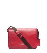 Michael Kors Warren Large Leather Messenger Wine