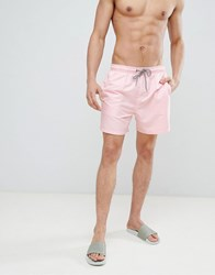 New Look Swim Shorts In Pink Mid Pink
