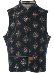 Al Duca D'aosta 1902 Patterned Sleeveless Gilet Black