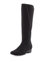 Taryn Rose Kyana Stretch Pull On Boot Black