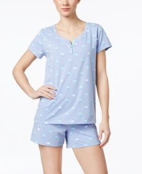 Charter Club Short Sleeve Top And Boxer Pajama Set Only At Macy's Whale Watch