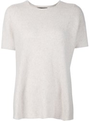 The Elder Statesman Knitted T Shirt Nude And Neutrals