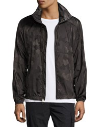 Ralph Lauren Nylon Camo Track Jacket Dark Green