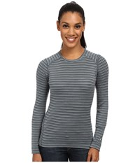 Smartwool Nts Mid 250 Pattern Crew Top Sea Pine Heather Women's Long Sleeve Pullover Gray
