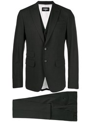 Dsquared2 London Three Piece Suit Grey