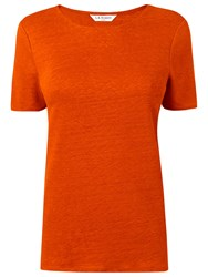 Lk Bennett L.K. Tj Hula Linen T Shirt Orange
