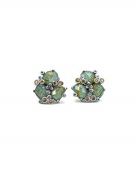Stephen Dweck Turquoise And Quartz Doublet Cluster Earrings