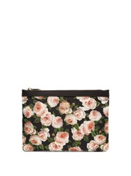 Dolce And Gabbana Rose Print Nylon Pouch Multi