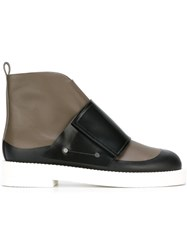 Marni Velcro Strap Ankle Boots Green
