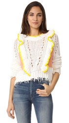 Wildfox Couture Sorbet Stripe Sweater Clean White