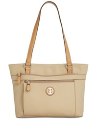 Giani Bernini Pebble Medium Tote Created For Macy's Oatmeal