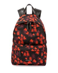 Givenchy Small Floral Print Nylon Backpack Multicolor
