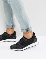 Cayler And Sons Knit Trainers In Black Camo