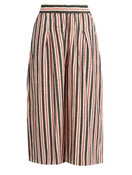 Ace And Jig Jo Wide Leg Striped Cotton Culottes Red Multi