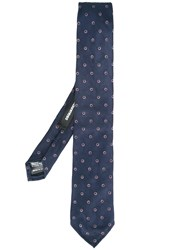 Dsquared2 Pattern Embroidered Tie Blue