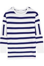 Equipment Leigh Striped Cashmere Sweater Ivory