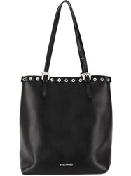 Dsquared2 Snap Button Trim Tote Bag Black