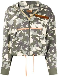 Tommy Jeans Camouflage Print Zipped Hoodie 60