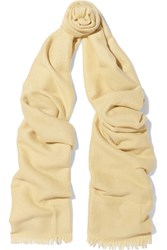 Brunello Cucinelli Sequined Cashmere And Silk Blend Scarf Yellow
