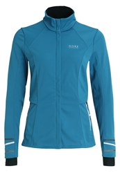 Gore Running Wear Mythos 2.0 Sports Jacket Ink Blue Turquoise