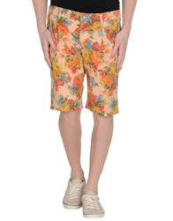 No Lab Trousers Bermuda Shorts Men Salmon Pink