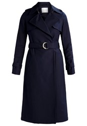 Ivy And Oak Classic Trenchcoat Midnight Blue Dark Blue