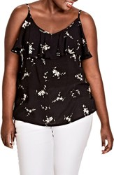 City Chic Plus Size Women's Aerial Floral Top