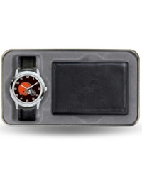 Rico Industries Cleveland Browns Watch And Wallet Gift Set Black Team Color