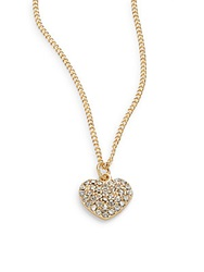 Sequin Pave Heart Necklace Gold