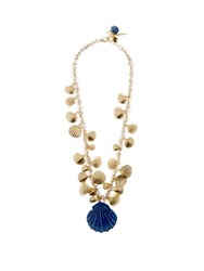 Rosantica By Michela Panero Abissi Seashell Charm Necklace Yellow Gold