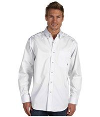 Ariat Solid Twill Shirt White Long Sleeve Button Up