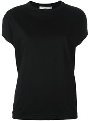 Toga Cap Sleeve T Shirt Black
