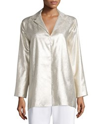 Shamask Long Sleeve Metallic Tunic Gold
