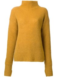 Le Ciel Bleu Turtleneck Jumper Yellow Orange