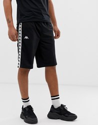 Kappa Authentic Snapswell Shorts With Logo Taping And Poppers In Black