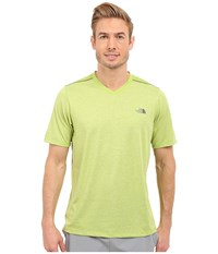 The North Face Reactor Short Sleeve V Neck Macaw Green Heather Macaw Green Men's Clothing Yellow