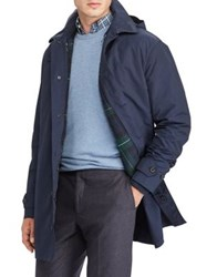 Polo Big And Tall Two Piece Commuter Hooded Jacket Down Filled Puffer Village Navy