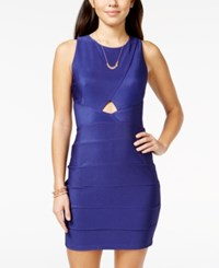 Crystal Doll Juniors' Cutout Seamed Bodycon Tank Dress