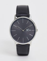 Lacoste Moon Leather Watch Black