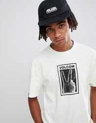Volcom Peace Off T Shirt In White