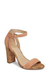 Botkier Gianna Ankle Strap Sandal Soft Peach Suede
