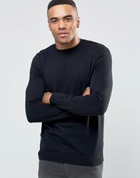 New Look Crew Neck Jumper In Black Black