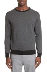 Canali Textured Cotton Sweatshirt Charcoal
