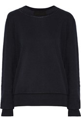 Jil Sander Cotton Cashmere And Silk Blend Sweater Blue