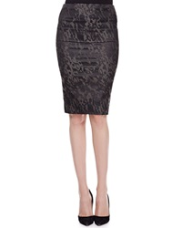 Donna Karan Tube Skirt With Fold Over Waist Slate