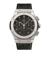 Hublot Classic Fusion 42Mm Chronograph Titanium Watch Unisex Black